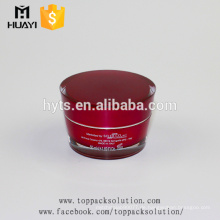 50ml roter leerer Acryl-Kosmetikbehälter Kunststoff-Cremetopf mit Deckel