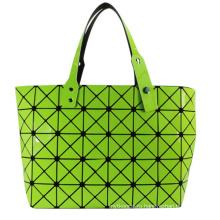 Мода магический куб зеленый PU Сумка для женщин косметика