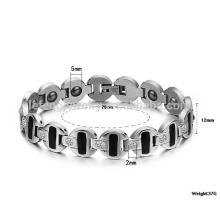 Nueva pulsera personalizada, pulsera con conexión a tierra, mens pulsera de cadena gruesa