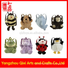 2016 high quality kids animal shaped plush backpack cute children animal backpack