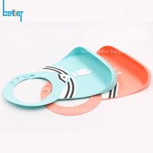 Babero de bebé de silicona divertido impermeable suave para niños
