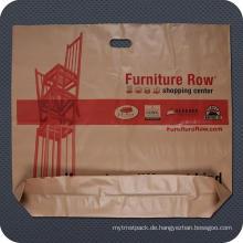 Kunststoff-Werbe-Würfel schneiden Handle Bag mit Boden Zwickel