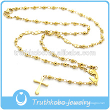 Fashion Religious Jewelry For Stainless Steel Heart Beads Religious Rosary Necklace With Mary Charm For Golden Jewelry Findings