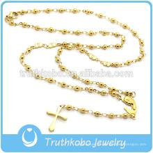 Moda Jóias Religiosas Para Contas de Coração de Aço Inoxidável Colar de Rosário Religioso Com Mary Charme Para Descobertas de Jóias de ouro