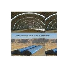 Estructura de estructura de acero prefabricada para cubiertas de carbón seco
