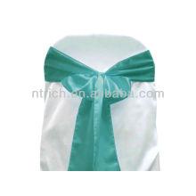 turquesa, faja de Satén silla lujo vogue lazo, pajarita, nudo, cubiertas de la silla baratos boda y fajas para la venta