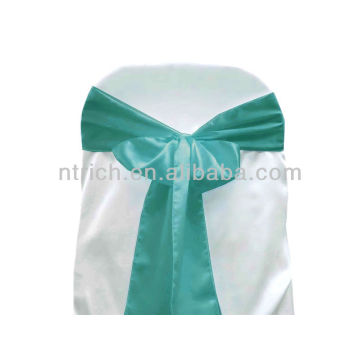 turquoise, fancy vogue satin chair sash tie back,bow tie,knot,wedding cheap chair covers and sashes for sale