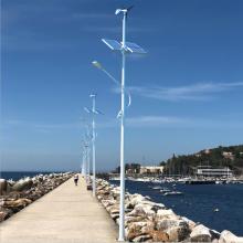 Lâmpada de rua com controlador híbrido solar e eólico de alta eficiência e longa vida