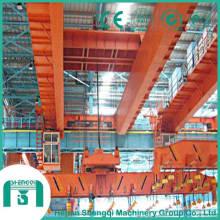 Au-dessus du pont roulant électromagnétique de longueur avec la poutre porteuse