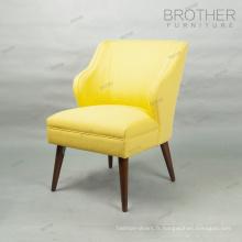 Chaise de restaurant rembourrage en tissu velours dinant la chaise avec le dos d'aile