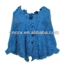 13STC5498 Mohair ponchos de crochê para mulher