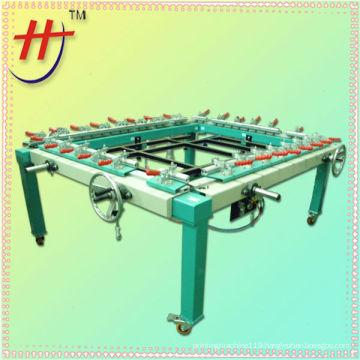 T HJ-2100 china guangdong pneumatic single chuck screen stretcher machine