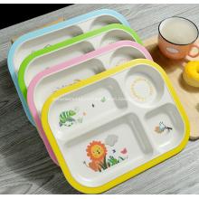 Бамбуковая пластиковая тарелка для детей
