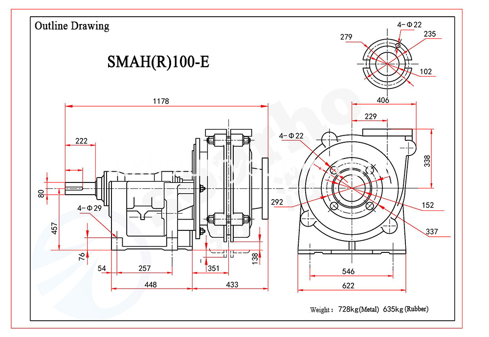 SMAH(R)100-E outline drawing