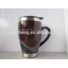 2015 beste Vertrieb hochwertiger Doppelwand Keramik Kaffeebecher mit Griff BPA-frei
