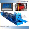 Azulejo de alta velocidad de la cumbrera que hace la fabricación anterior del edificio de la máquina de la rueda / el casquillo automático del canto de la azotea del metal que hace la máquina