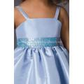 A-Line Спагетти Тафта Платье для Девочек-Цветочниц