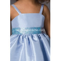 A-linje Spaghetti Taffeta Flower Girl Dress