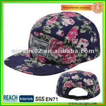 2013 nuevo sombrero del snapback del panel de la flora 5 de la marca de fábrica NC-0001
