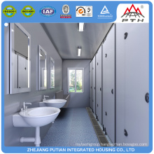 Container toilet for social housing projects