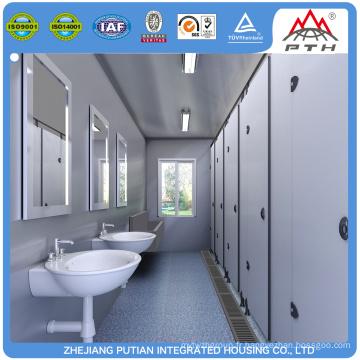 10 / 16ft container house avec toilette pour bureau