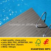 Europe Standard WPC Decking Waterproof Exterior Anti Slip Plastic Board Wood Like For Outdoor Floor