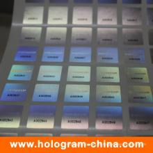 Etiqueta engomada del holograma del número de serie del negro de la seguridad de la Anti-Falsificación