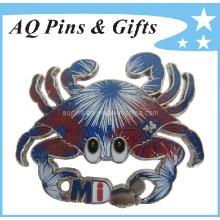 Cravates Fireworks Cravate Custom Glitter Pin avec Epoxy (badge-011)