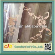 Rideau lin brodé en Chine