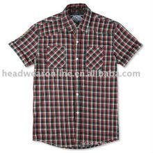 As camisas dos homens da manta do algodão da forma