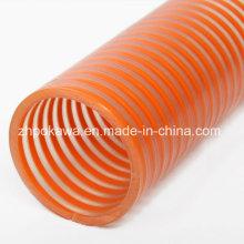 Glatter PVC Saugschlauch mit Orange Helix