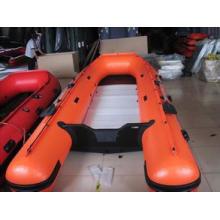Barco de motor inflable para la pesca