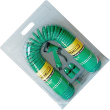 15m (50′) Durable Spiral PU Garden Air Hose Coil Hose Set