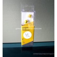 Caixa plástica do OEM do auriculares (pacote dos produtos eletrônicos)