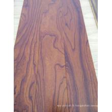 Plancher de bois d'ingénierie de couleur orme brossé
