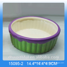 Handpainting cerâmica fruteira para decoração de casa