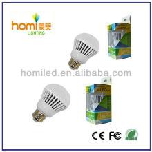 7W A60 LED plastic Bulb,Inner aluminium + outer plastic housing bulb