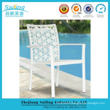 Hot Sale New Design White Color Tropical Rattan Chair