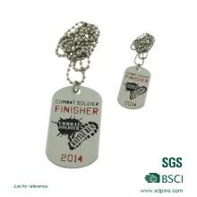 Etiqueta de perro de recuerdos de metal en blanco por encargo