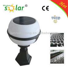 blanco jardín bola de luz solar, luz solar del jardín del hongo, luz de Pilar de la energía solar
