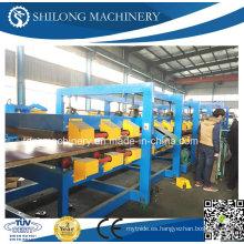 El CE aprobó el rodillo frío de la placa del panel de pared del emparedado de las lanas de la EPS y de la roca que forma la línea de producción de la máquina