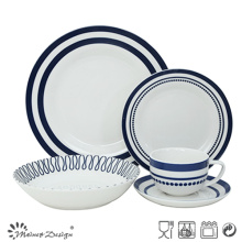 30PCS Porcelain Dinner Set with Geometrical Decal Design