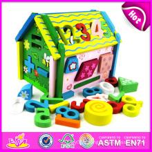 Jouet de maison numérique en bois 2014 pour enfants, jouet en bois jouet de maison numérique pour enfants, jouet éducatif maison numérique pour bébé usine W12D010