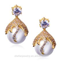Boucles d'oreilles clip pas cher célèbre marque de mode imitation bijoux