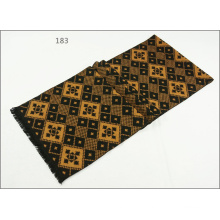 Men′s Womens Unisex Reversible Cashmere Feel Winter Warm Checked Diamond Printing Thick Knitted Woven Scarf (SP814)