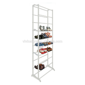 Light Portable Space Saving Shoes Rack With White Color 10Tiers Fastness Plastic Shoes Rack\Taking Easy Shop's Shoes Self
