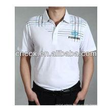 13ST1008 Men's polo collar latest cotton wholesale blank t shirts