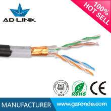 24awg cable ethernet 2 pares ftp gato 6e cable al aire libre
