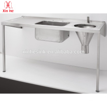 304 or 316 Stainless Steel multifunctional medical sluice sink for hospital sanitary public use
