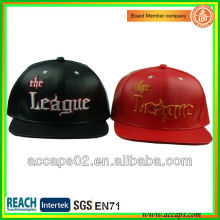 Leather Snapback Hats With Embroiderys SN-1189